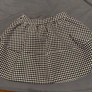 Express poke dot a line skirt with hidden pockets